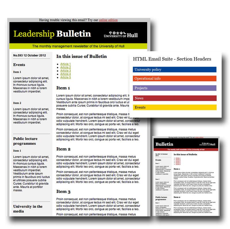 email bulletin template - ottaway media university of hull